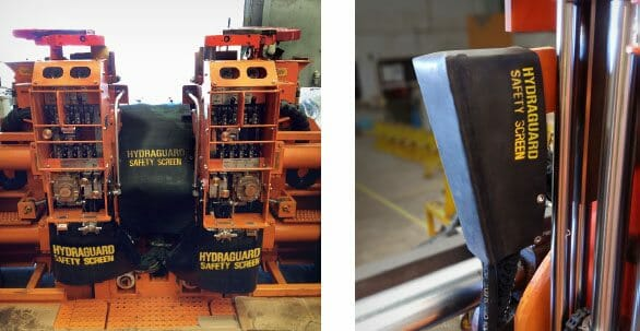 Hydraguard system protects miners from fluid injection injury