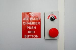 Brain manufactured emergency refuge chambers have a big red button for one stop starting of systems